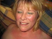 Hot nude amateur wives receiving facial cumshots on camera