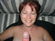 Naughty wives and MILFs suck cocks and get facial cumshots