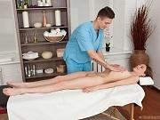 Horny masseur