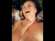 American slut screams for her Step daddy while being choked