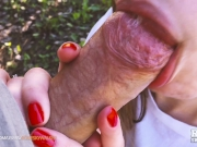 Outdoor Blowjob in the forest Cum in Mouth - Amateur Couple RosieSkywalker