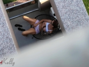 Caught my neighbors daughter masturbating on her balcony