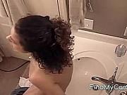 Bath girl masturbation