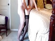 Amateur wife in stockings fucked hard