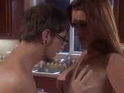 Raquel Devine groped by a LUCKY GUY in the kitchen