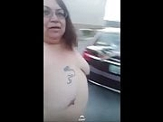 Loves2show naked in public by a car
