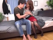 Rika Fujishita - A Stepmom With Huge Tits Has Come To Our Home