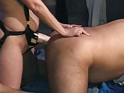 Husband with fist and XXL strap-on fucked in ass.